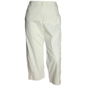 22w White Tummy Slimming Classic Fit Capri Pants